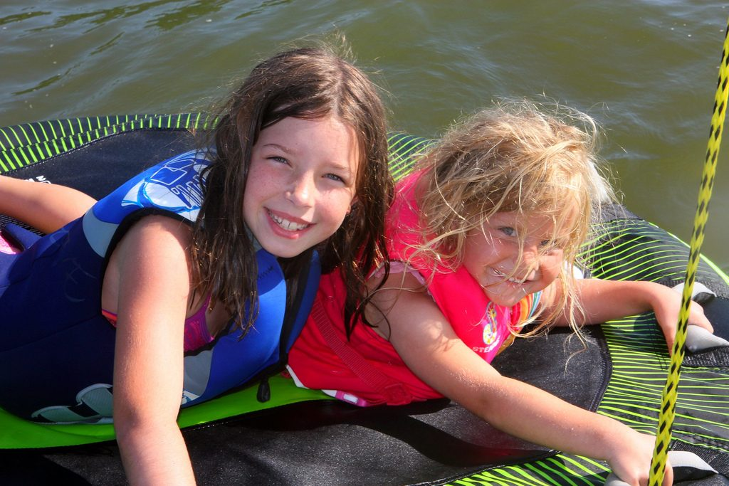 kids on a raft